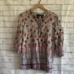 Chelsea & Theodore Floral Beaded Blouse